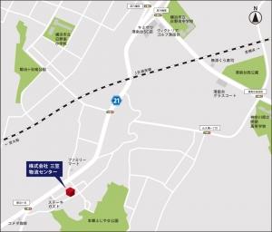 株式会社三笠物流センター 地図